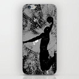 SLAM DUNK IN BLACK AND WHITE iPhone Skin