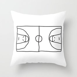 Basketball in lines Throw Pillow