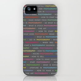 Photography Colored Keywords iPhone Case
