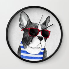 Frenchie Summer Style Wall Clock