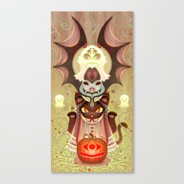 Trick-or-Treat Totem Canvas Print
