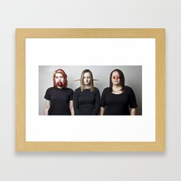 See No Meat Framed Art Print