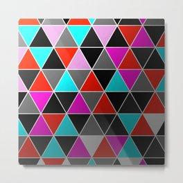 Industrial Triangles Metal Print