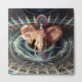 World Trance Elephant Metal Print