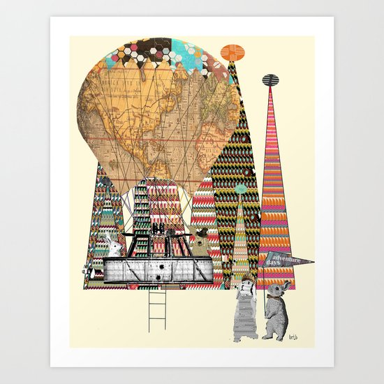 adventure days Art Print