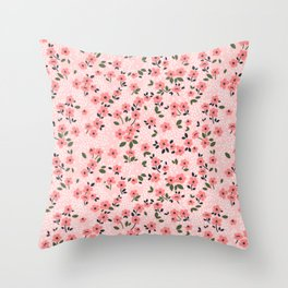 29 Cute floral pattern. Pink flowers. Throw Pillow