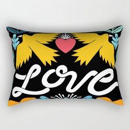 Love bird garden Rectangular Pillow