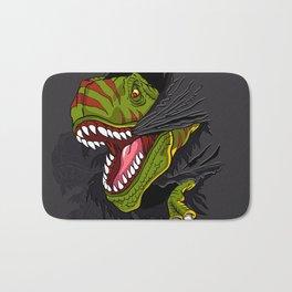 Agressive t rex. Bath Mat