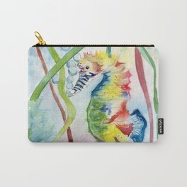 Colorful Seahorse Carry-All Pouch