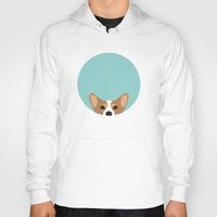 corgi Hoodies featuring Corgi by Anne Was Here