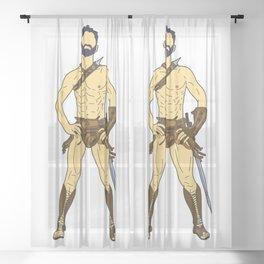 Gladiator Warrior 2 Sheer Curtain