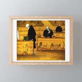 Hugo Simberg - The Garden of Death - 1896 Artwork for Wall Art, Prints, Posters, Tshirts, Men, Women, Kids Framed Mini Art Print