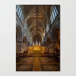 Lichfield cathedral inside Canvas Print