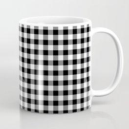 Gingham Black and White Pattern Coffee Mug