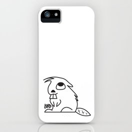 Curious Beaver iPhone Case