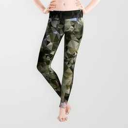 Canary Island Palm Low Poly Triangles Leggings