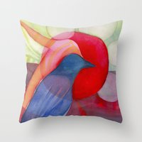 kandinsky Throw Pillows featuring Joy by angela deal meanix