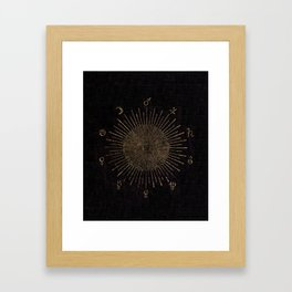 Astronomy Symbols Framed Art Print