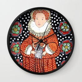 Queen Elizabeth 1 Wall Clock
