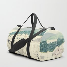 Anna Mary Robertson 'Grandma' Moses To Grandma's House We Go on Thanksgiving Day Folk Art Duffle Bag
