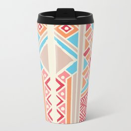 Tribal ethnic geometric pattern 033 Metal Travel Mug