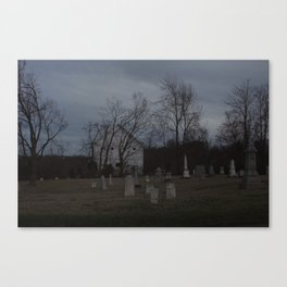 Little Cemetery on the Hill 1 Canvas Print