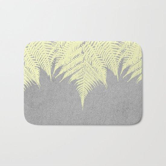 Concrete Fern Yellow Bath Mat