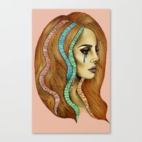 ultraviolence Canvas Prints featuring Ultraviolence by Christina Dedic