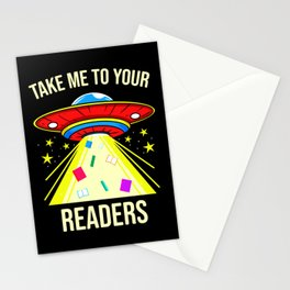 Take Me To Your Readers Alien Reading Stationery Cards