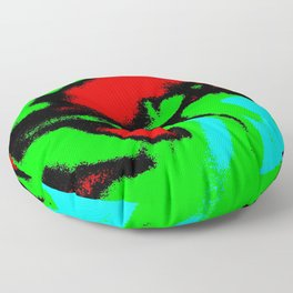 Osile multicolor red green Floor Pillow