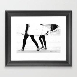 catch a wave Framed Art Print