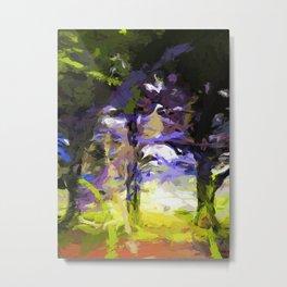 Tree Avenue Lavender Lilac Green Metal Print