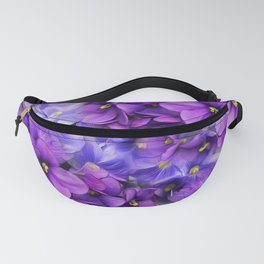 Violets in my garden, digital flower print Fanny Pack