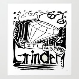 STL Grinder Art Print