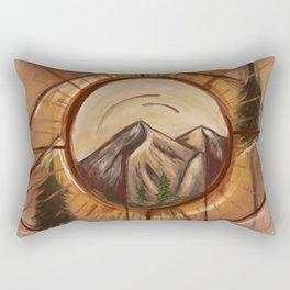 Mountain Abstract Painting Rectangular Pillow