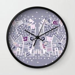 Violet City Wall Clock