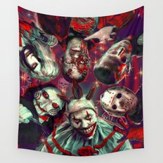 Twisty Jigsaw Jason Voorhees Terminator Psychedelic Spook Show Wall Tapestry