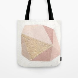 Gold Gem Geometric Painting Tote Bag