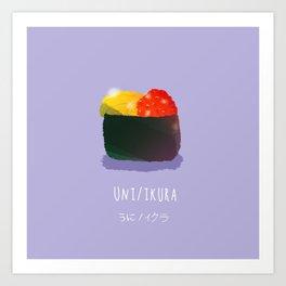 Uni/Ikura Sushi Art Print