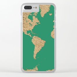 Sand balls - Organic World Map Series Clear iPhone Case