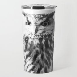Owl on White #1 #animal #decor #art #society6 Travel Mug