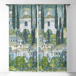 Gustav Klimt - Church in Cassone Blackout Curtain