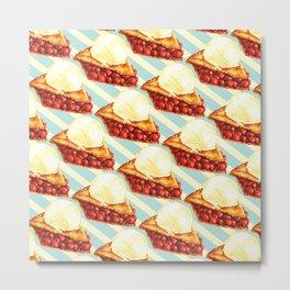 Cherry Pie Pattern Metal Print