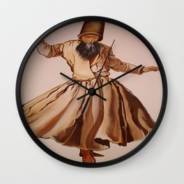 The Remembrance of Allah - A Sufi Whirling Dervish Wall Clock
