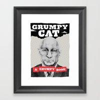 GRUMPY AS THE CAT  Framed Art Print