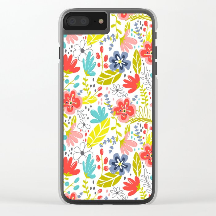 Wildflower Clear iPhone Case