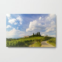 Sunset in the vineyards of Rosazzo Metal Print