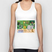 jungle Tank Tops featuring JUNGLE by Rebecca Bear