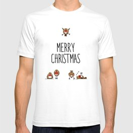 A round of Robins for Christmas T-shirt