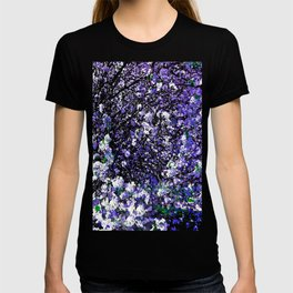 TREES PURPLE AND WHITE T-shirt